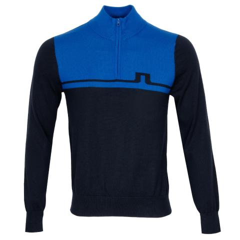 J Lindeberg Theo Zipped Sweater Egyptian Blue