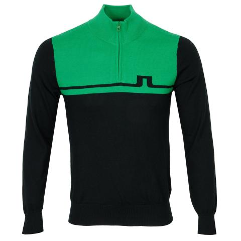 J Lindeberg Theo Zipped Sweater Stan Green