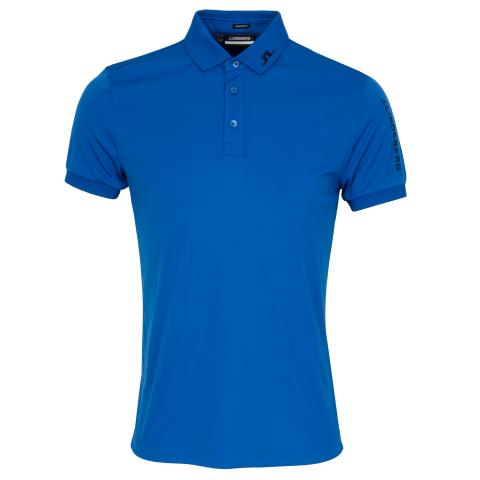 J Lindeberg Tour Tech TX Polo Shirt Egyptian Blue