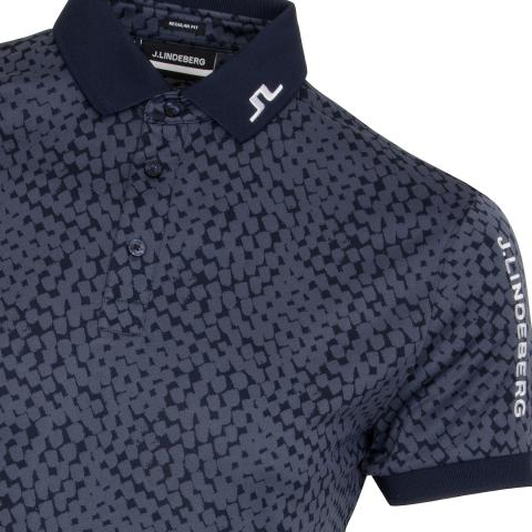 J Lindeberg Tour Tech Graphic Polo Shirt