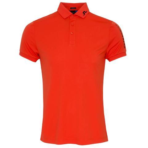 J Lindeberg Tour Tech TX Polo Shirt Tomato Red