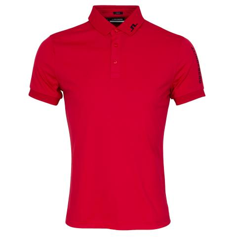 J Lindeberg Tour Tech TX Polo Shirt Red Bell