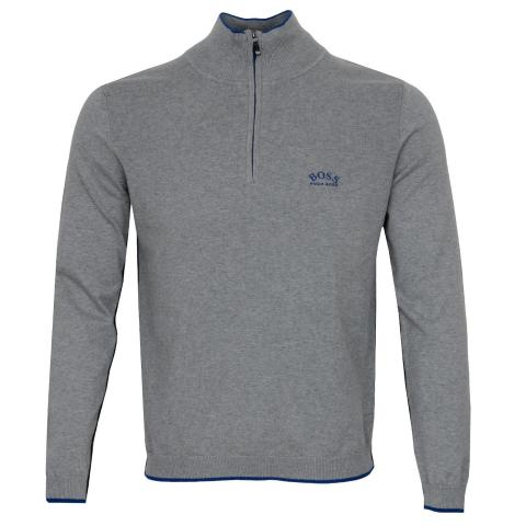 BOSS Ziston Zip Neck Sweater