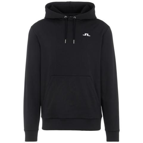 J Lindeberg Stretch Fleece Hoodie Black