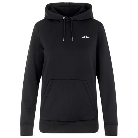 J Lindeberg Ladies Stretch Fleece Hoodie Black