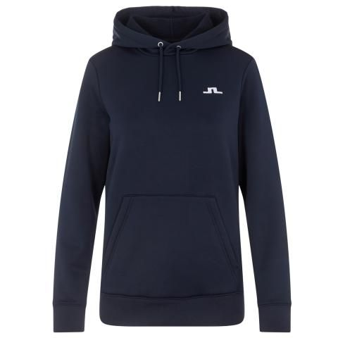 J Lindeberg Ladies Stretch Fleece Hoodie JL Navy