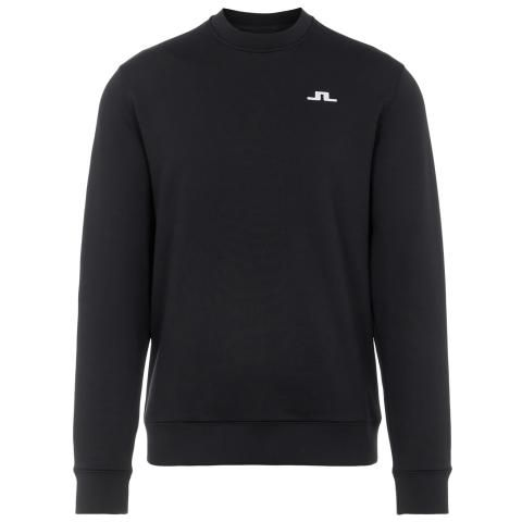 J Lindeberg Stretch Fleece Crew Neck Sweater Black
