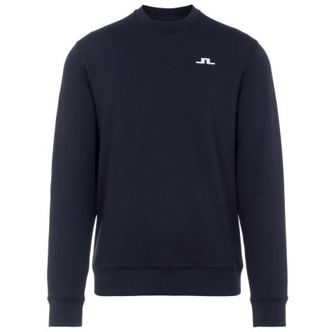 J Lindeberg Stretch Fleece Crew Neck Sweater JL Navy