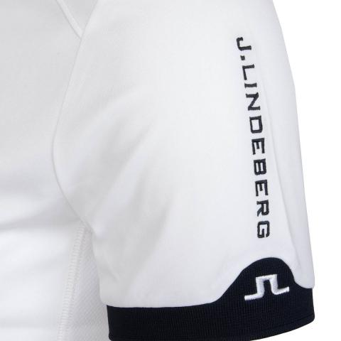 J lindeberg dennis tx polo shirt white scottsdale golf for Texas a m golf shirt