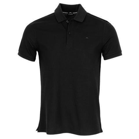 J Lindeberg Troy Pique Polo Shirt Black