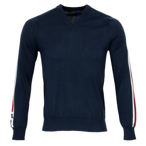 J Lindeberg Nolans Pima Cotton Sweater JL Navy