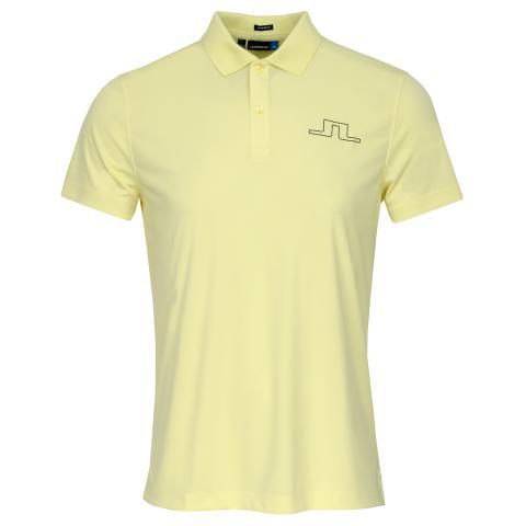 J Lindeberg Alan TX Polo Shirt Still Yellow