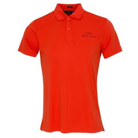 J Lindeberg Alan TX Polo Shirt Tomato Red