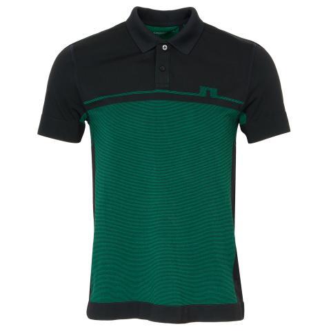 J Lindeberg Alfred 2 Tone Seamless Polo Shirt Black