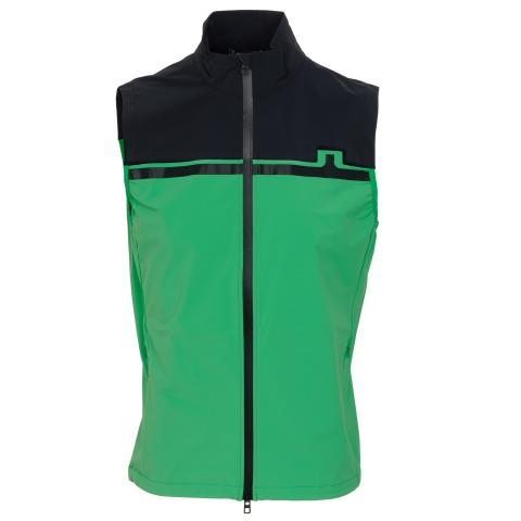J Lindeberg Blocked Lux Softshell Vest Stan Green