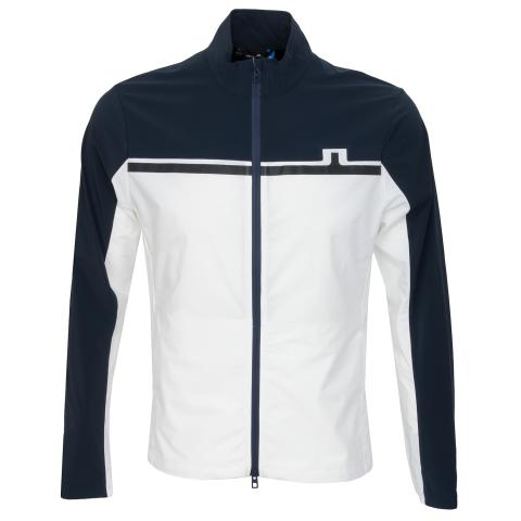 J Lindeberg Blocked Logo Lux Softshell Jacket White