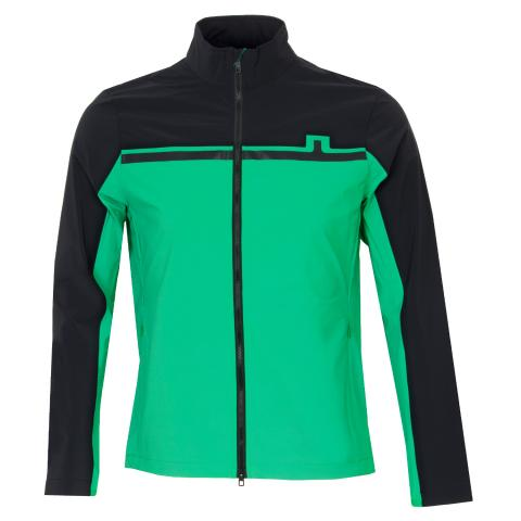 J Lindeberg Blocked Logo Lux Softshell Jacket Stan Green
