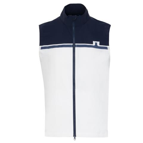 J Lindeberg Blocked Lux Softshell Vest White