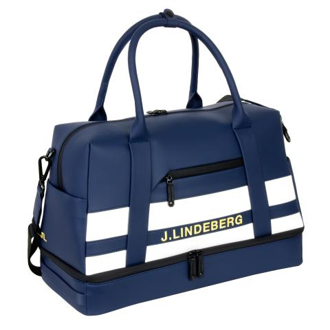 J Lindeberg Boston Synthetic Leather Bag JL Navy