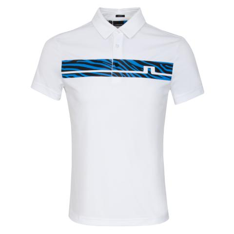J Lindeberg Clark Print TX Polo Shirt White
