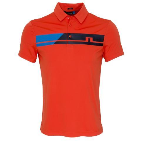 J Lindeberg Clark TX Polo Shirt Tomato Red