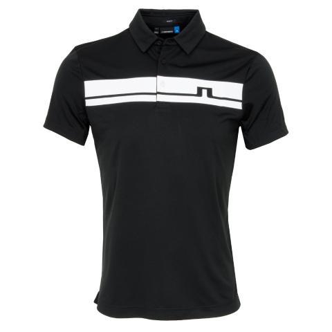 J Lindeberg Clark TX Polo Shirt Black