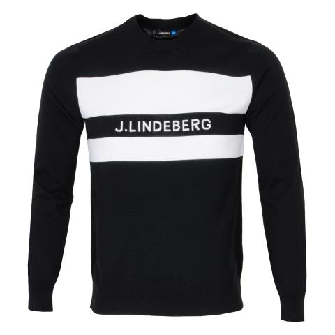 J Lindeberg Hudson Pima Cotton Sweater Black