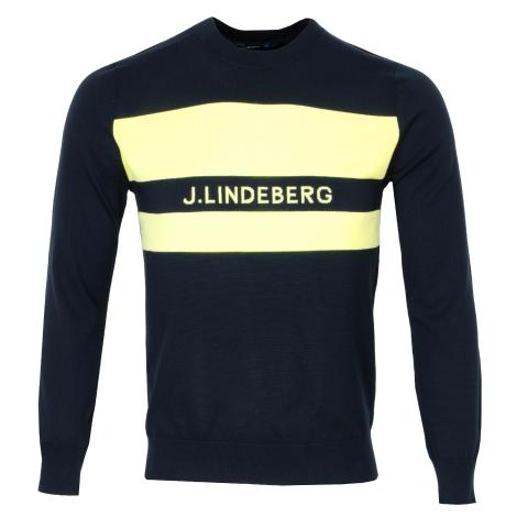 J Lindeberg Hudson Pima Cotton Sweater JL Navy