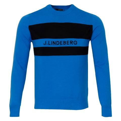 J Lindeberg Hudson Pima Cotton Sweater True Blue