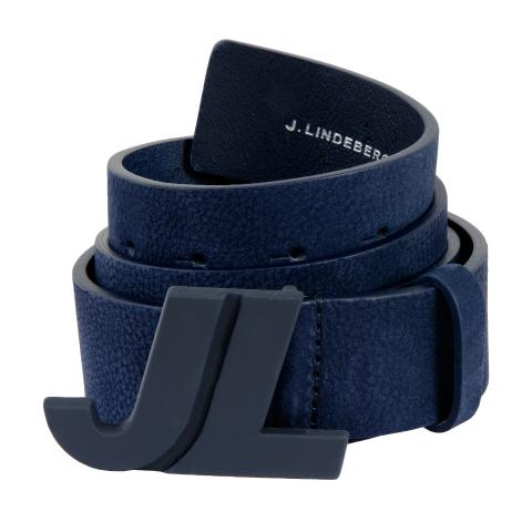 J Lindeberg Iconic Brushed Leather Belt