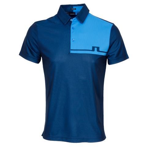 J Lindeberg Joaquin TX Jaquard Polo Shirt Black