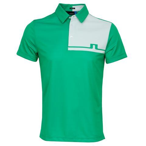 J Lindeberg Joaquin TX Jaquard Polo Shirt Stan Green