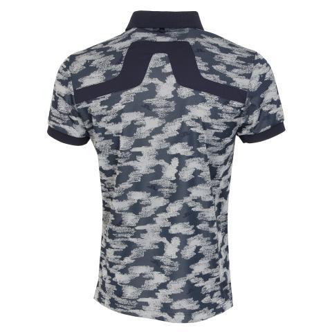 J Lindeberg KV TX Jaquard Polo Shirt Camou Grey