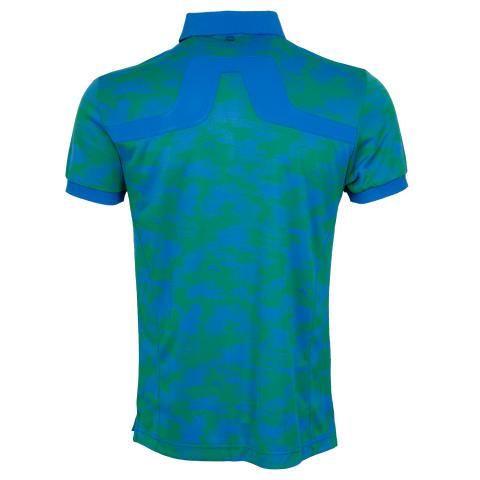 J Lindeberg KV TX Jaquard Polo Shirt Camou Green