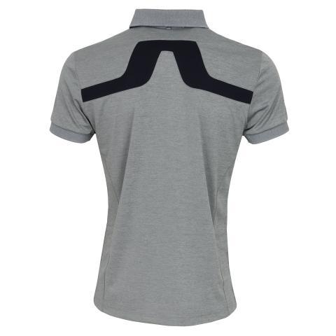 J Lindeberg KV TX Polo Shirt Stone Grey Melange