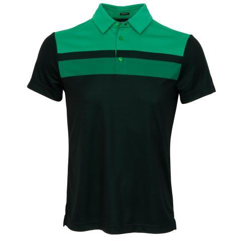 J Lindeberg Kade TX Jaquard Polo Shirt Black