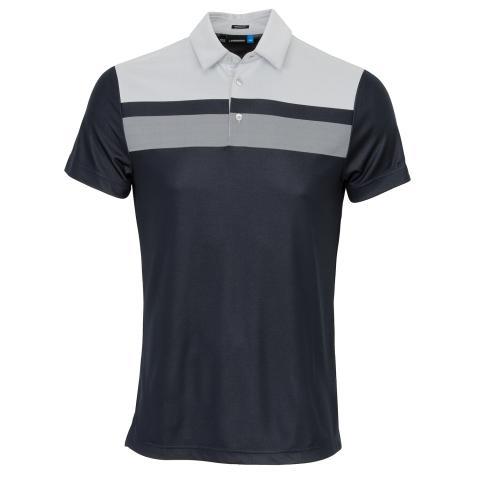 J Lindeberg Kade TX Jaquard Polo Shirt JL Navy