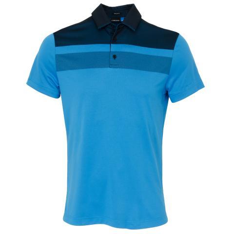 J Lindeberg Kade TX Jaquard Polo Shirt True Blue