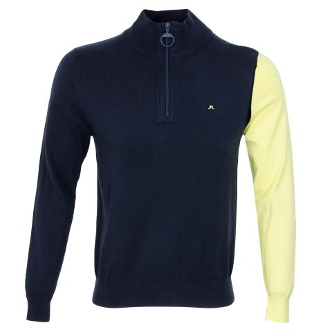 J Lindeberg Liam Cotton Coolmax Sweater JL Navy