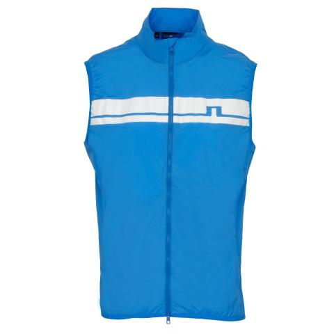 J Lindeberg Lou Light Stretch Wind Pro Windproof Vest True Blue