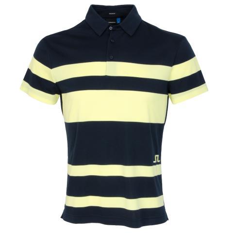 J Lindeberg Malte Club Pique Polo Shirt Still Yellow