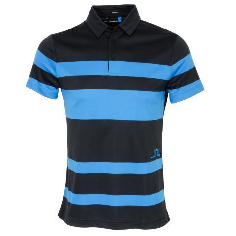 J Lindeberg Malte Club Pique Polo Shirt Black