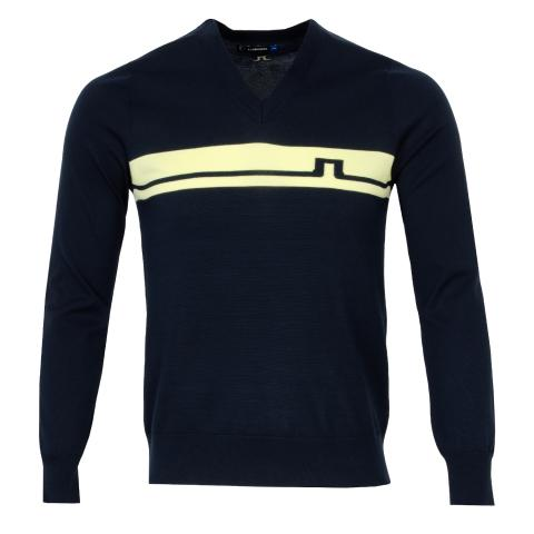 J Lindeberg Milo Pima Cotton Sweater JL Navy