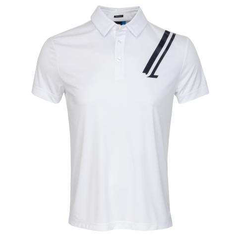 J Lindeberg Phoenix TX Coolmax Polo Shirt White