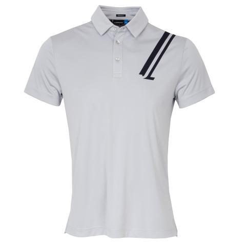 J Lindeberg Phoenix TX Coolmax Polo Shirt Stone Grey