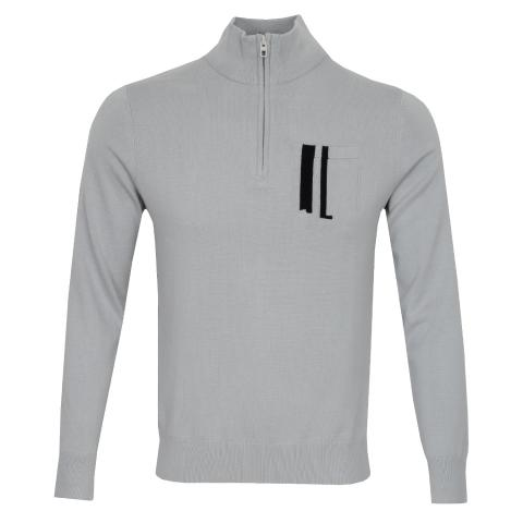 J Lindeberg Sid Cotton Coolmax Sweater Stone Grey