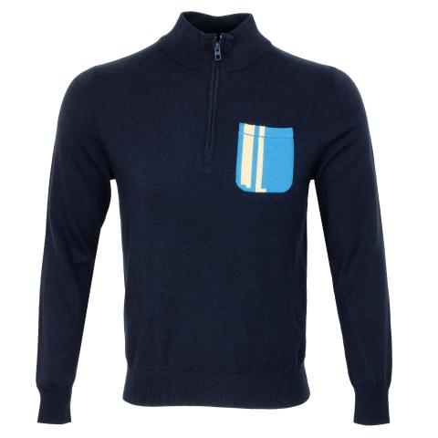 J Lindeberg Sid Cotton Coolmax Sweater JL Navy