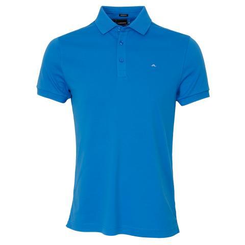 J Lindeberg Stan Club Pique Polo Shirt True Blue