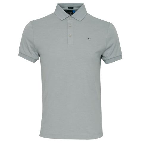 J Lindeberg Stan Club Pique Polo Shirt Stone Grey Melange
