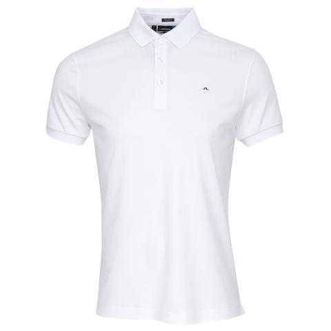 J Lindeberg Stan Club Pique Polo Shirt White